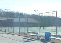 lighted tennis courts image