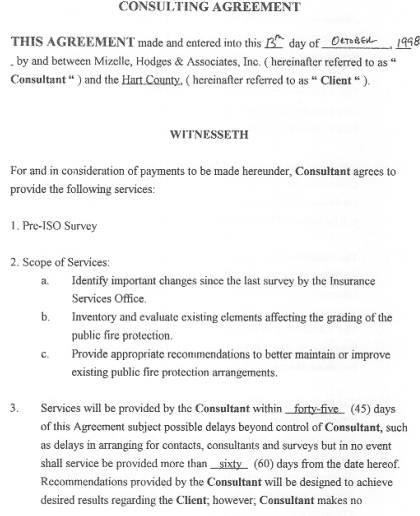 consulting agreement – Consulting Agreement